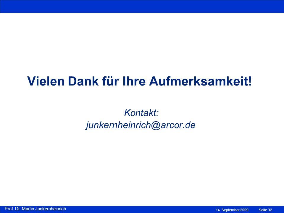 Vielen Dank für Ihre Aufmerksamkeit! Kontakt: junkernheinrich@arcor.de