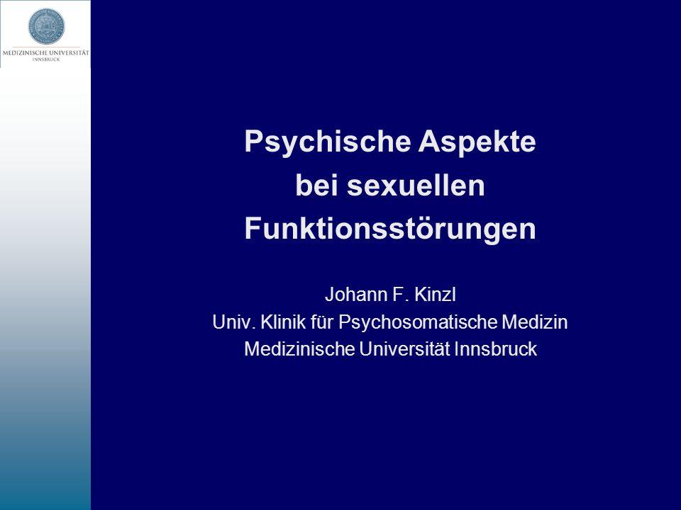 Psychische Aspekte bei sexuellen Funktionsstörungen
