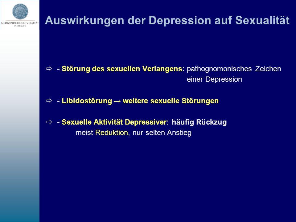 Auswirkungen der Depression auf Sexualität