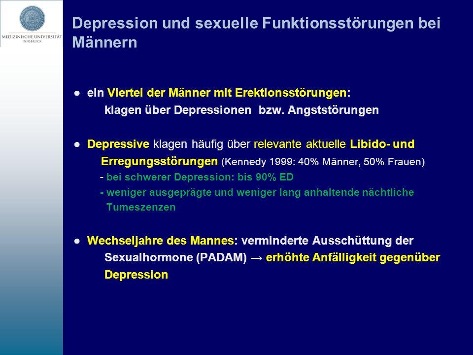 Depression und sexuelle Funktionsstörungen bei Männern