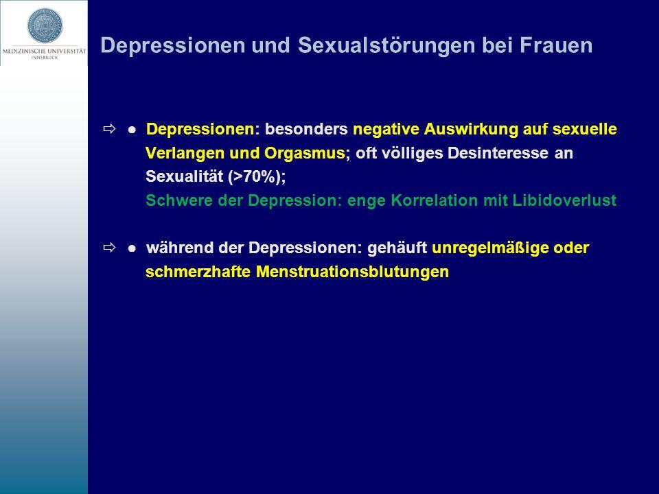Depressionen und Sexualstörungen bei Frauen