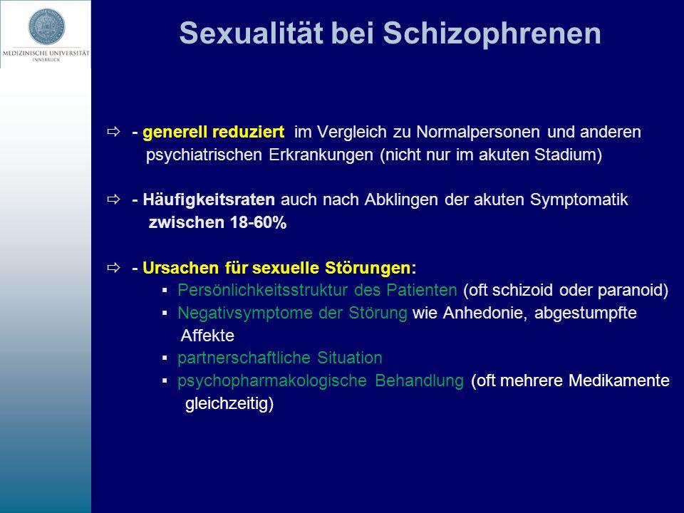 Sexualität bei Schizophrenen