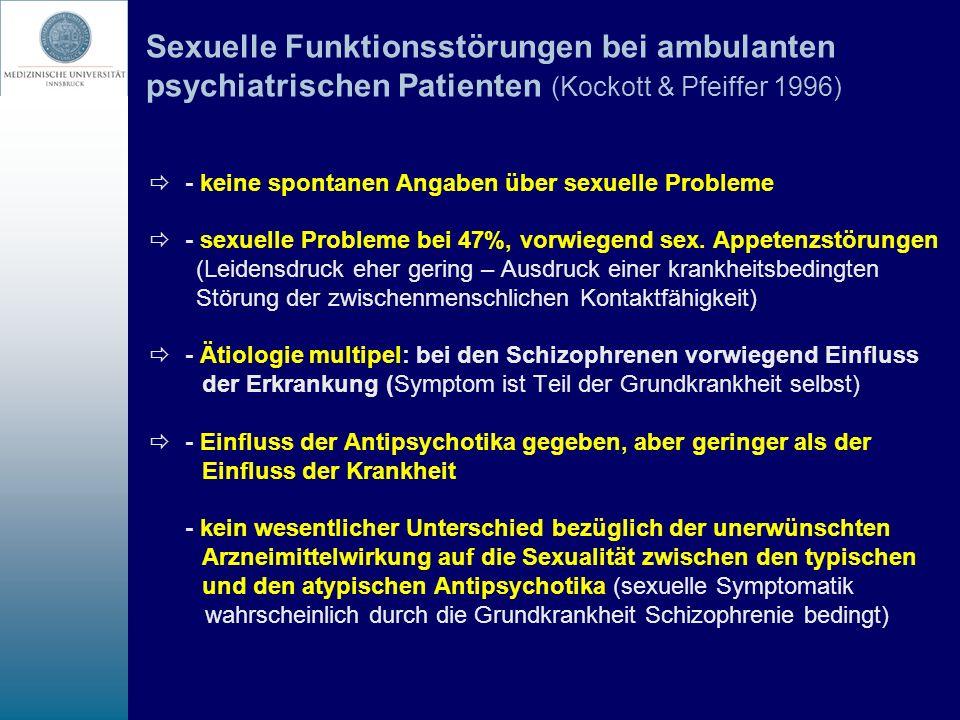 Sexuelle Funktionsstörungen bei ambulanten psychiatrischen Patienten (Kockott & Pfeiffer 1996)