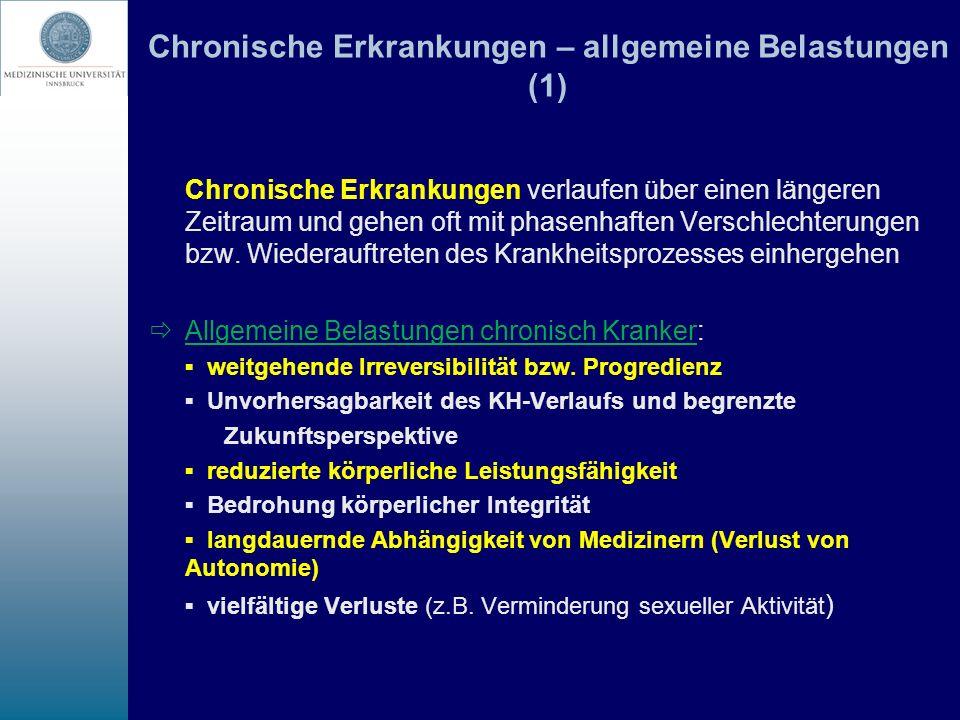 Chronische Erkrankungen – allgemeine Belastungen (1)