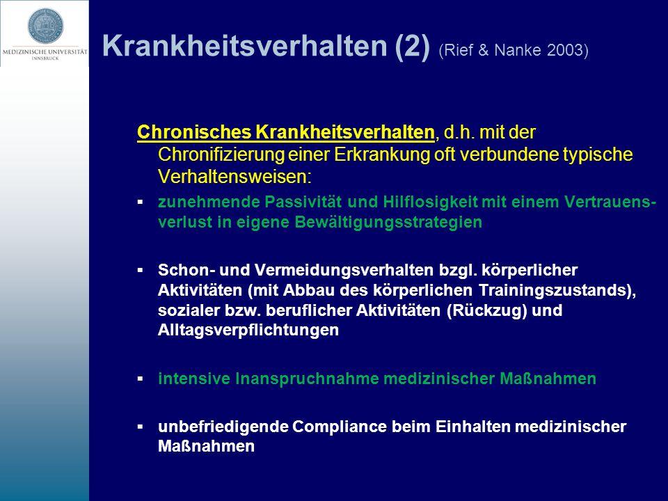 Krankheitsverhalten (2) (Rief & Nanke 2003)