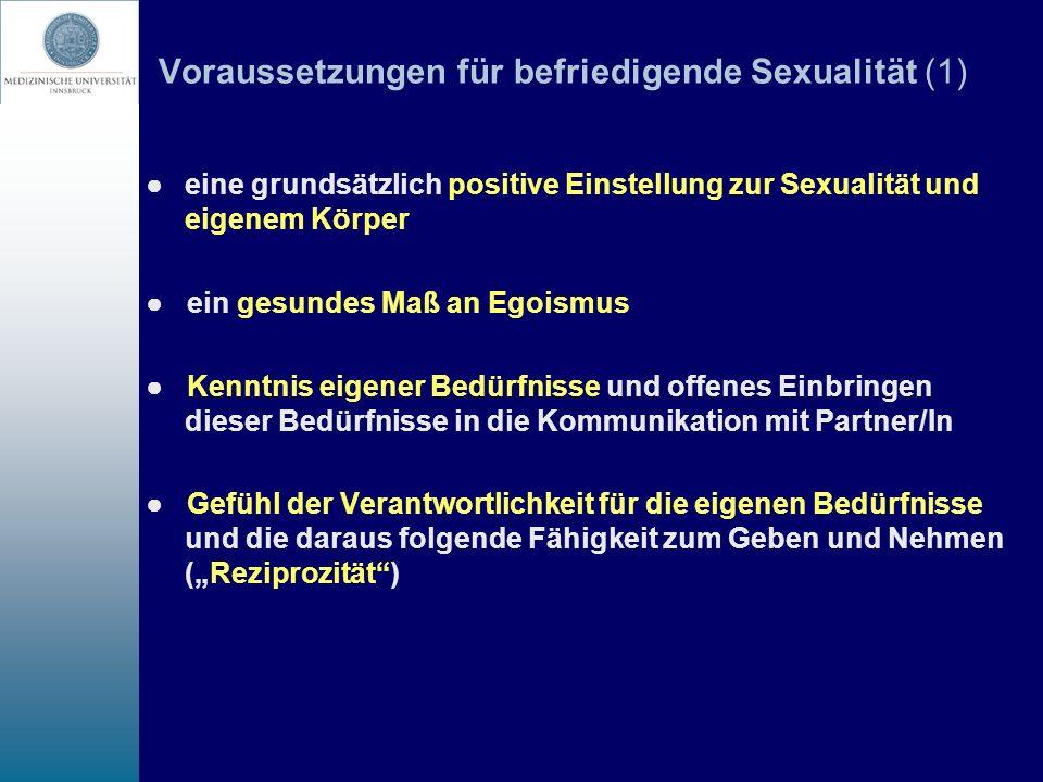 Voraussetzungen für befriedigende Sexualität (1)
