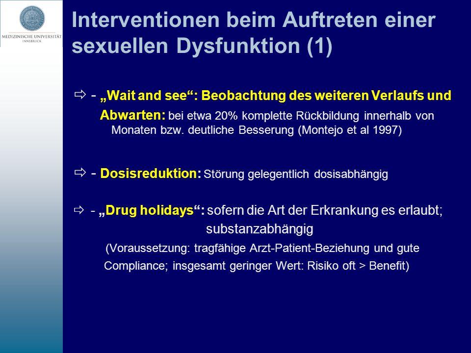Interventionen beim Auftreten einer sexuellen Dysfunktion (1)