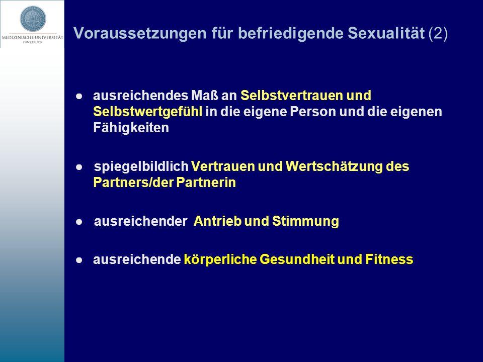 Voraussetzungen für befriedigende Sexualität (2)