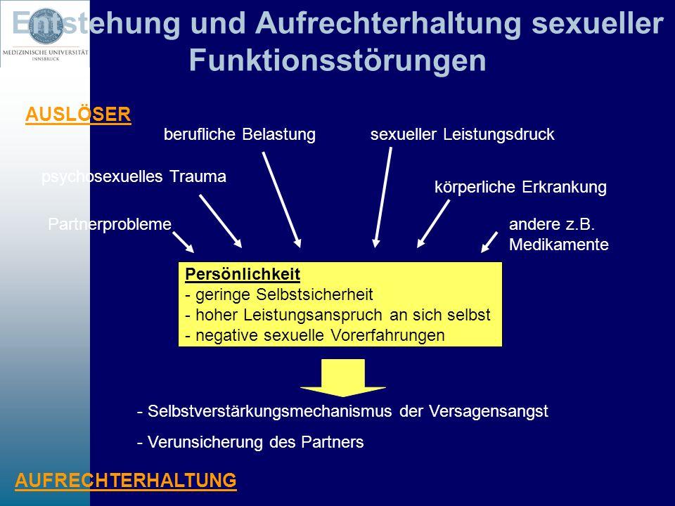 Entstehung und Aufrechterhaltung sexueller Funktionsstörungen