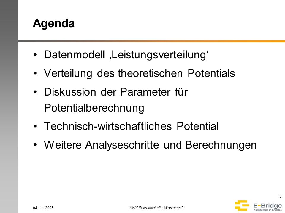 KWK Potentialstudie: Workshop 3