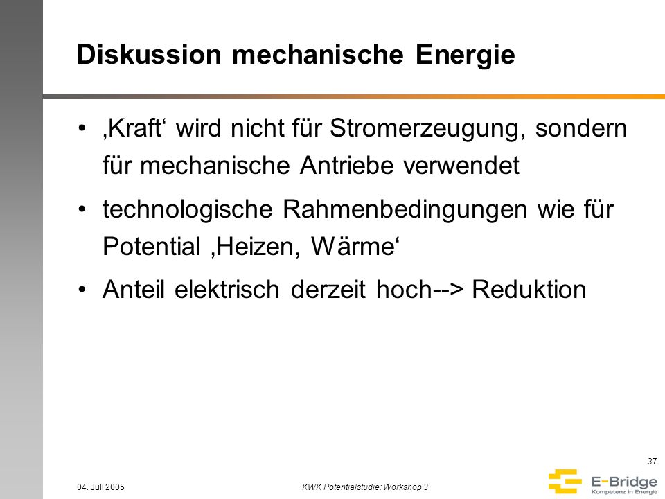Diskussion mechanische Energie