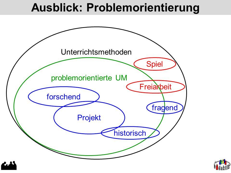 Ausblick: Problemorientierung
