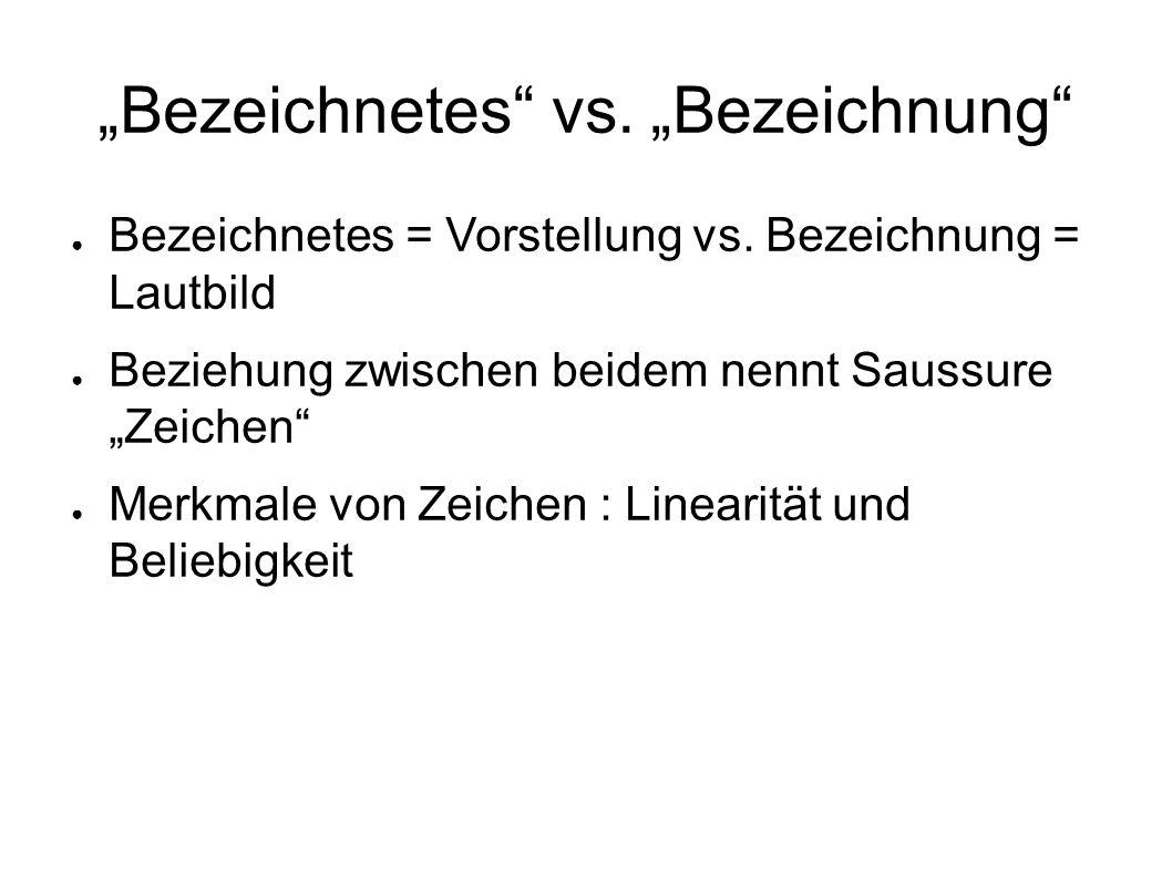 """""""Bezeichnetes vs. """"Bezeichnung"""