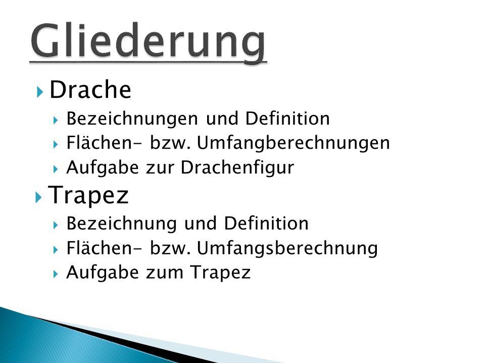 Gliederung Drache Trapez Bezeichnungen und Definition