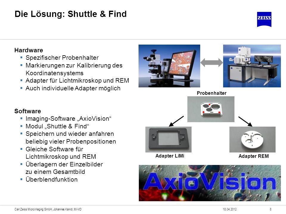 Die Lösung: Shuttle & Find