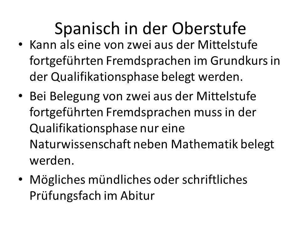 Spanisch in der Oberstufe