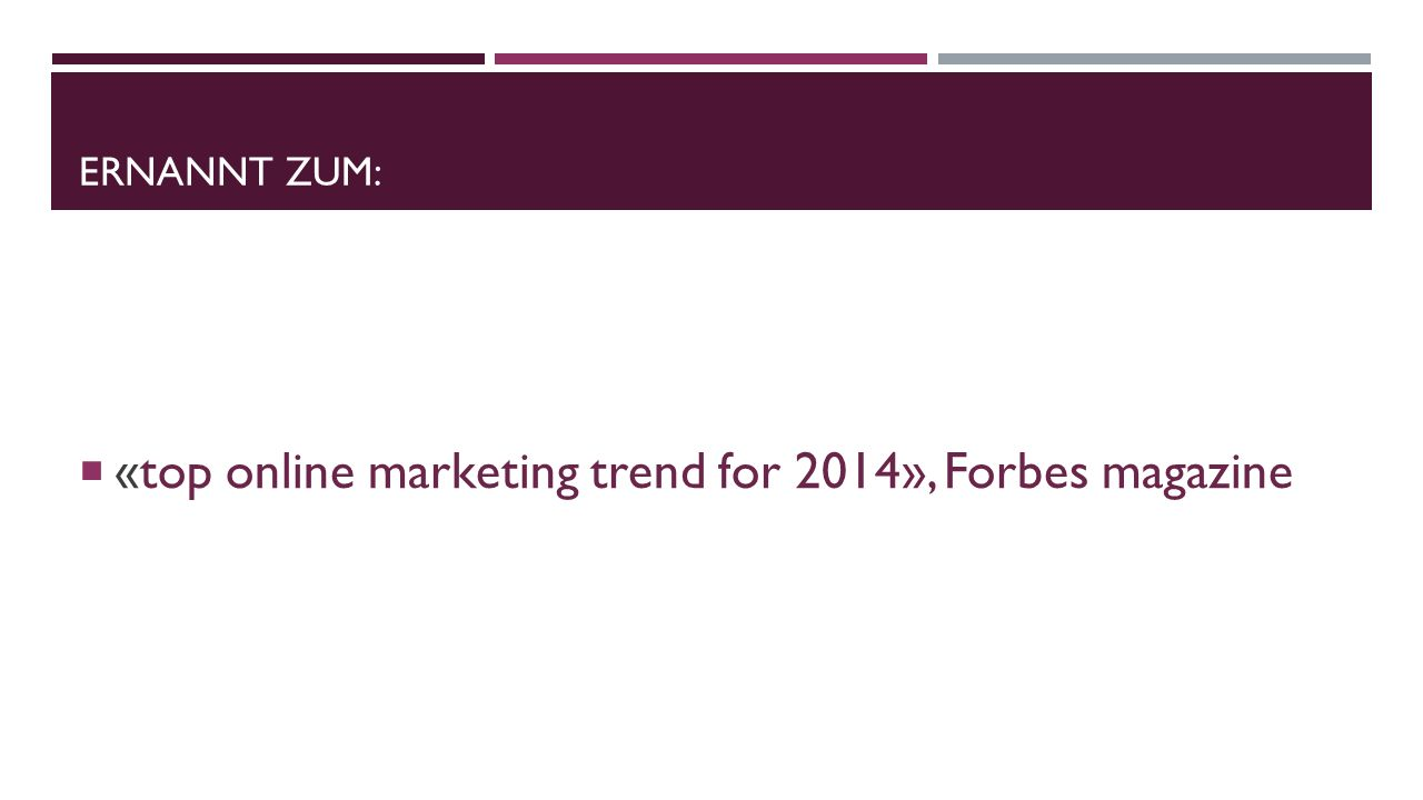 «top online marketing trend for 2014», Forbes magazine
