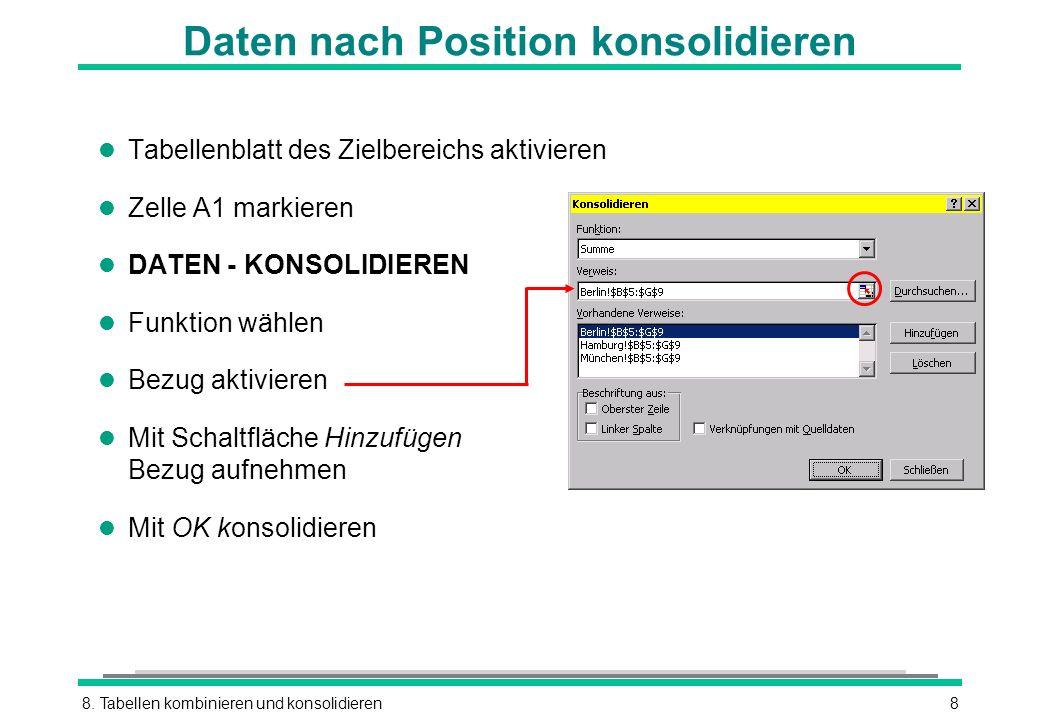 Daten nach Position konsolidieren