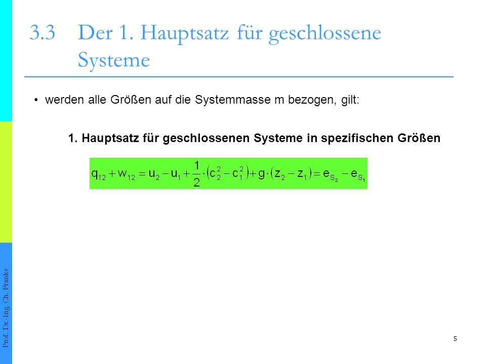 3.3 Der 1. Hauptsatz für geschlossene Systeme