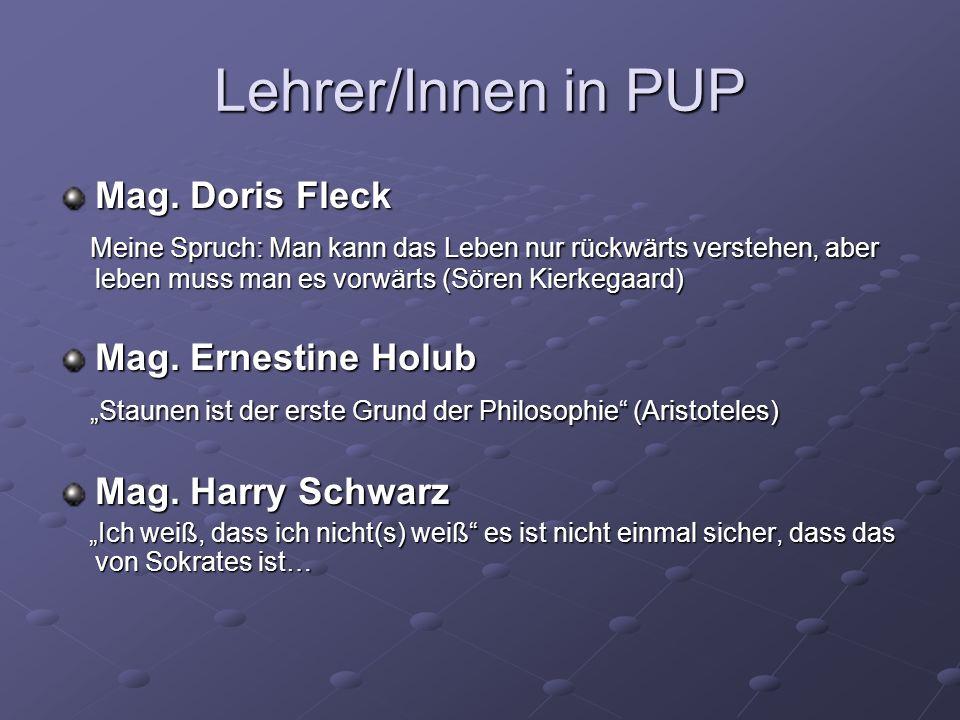 Lehrer/Innen in PUP Mag. Doris Fleck