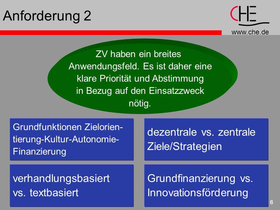 Anforderung 2 dezentrale vs. zentrale Ziele/Strategien
