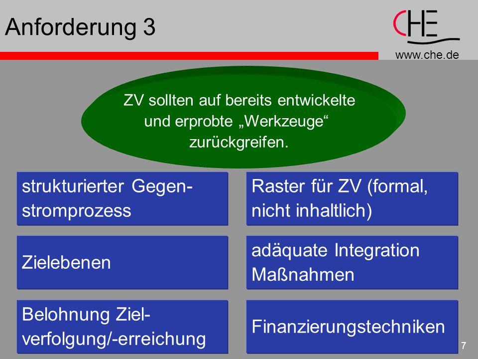 Anforderung 3 strukturierter Gegen- stromprozess
