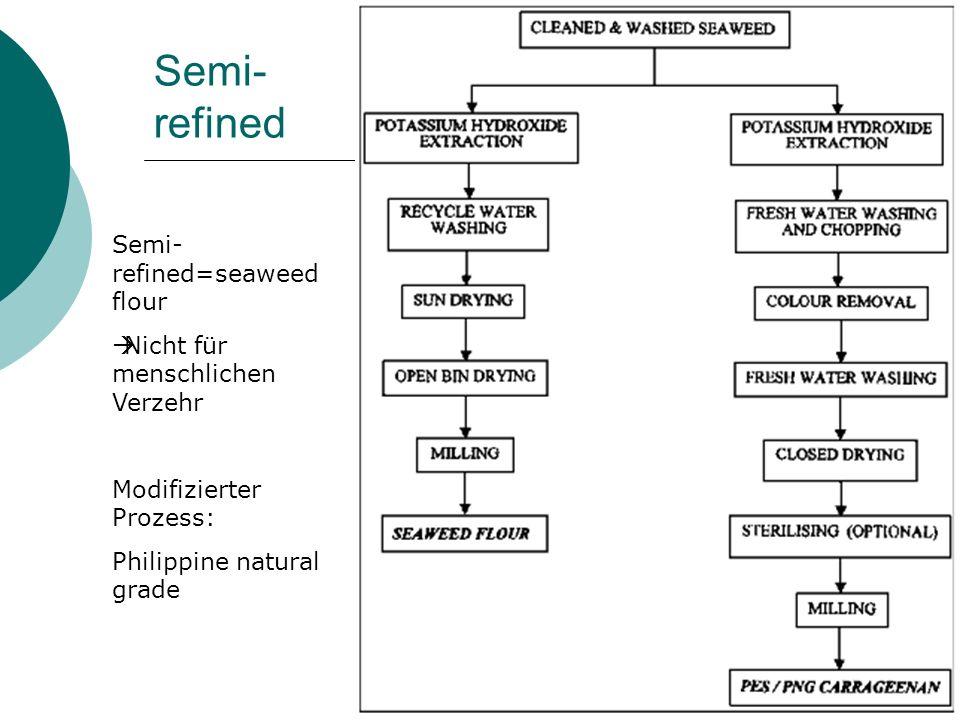 Semi-refined Semi-refined=seaweed flour Nicht für menschlichen Verzehr