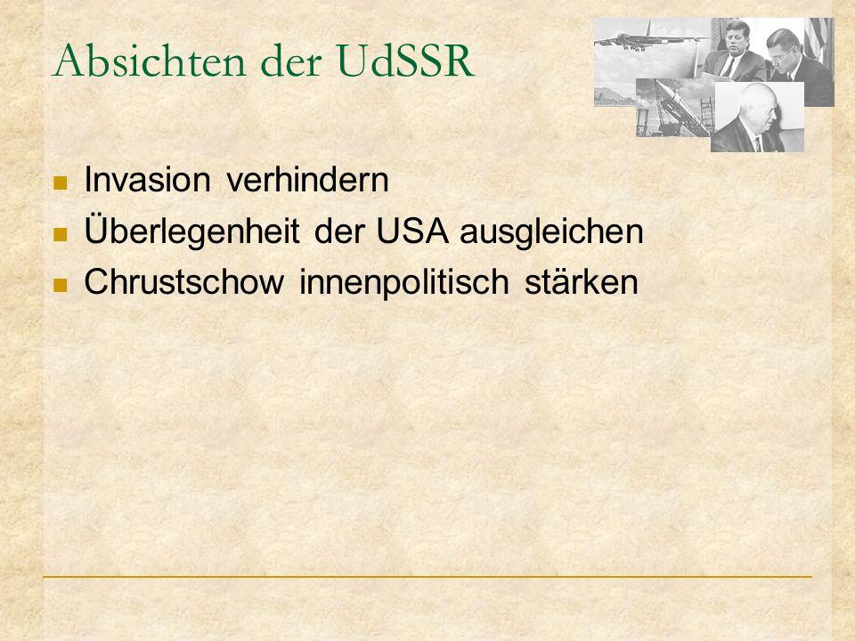 Absichten der UdSSR Invasion verhindern