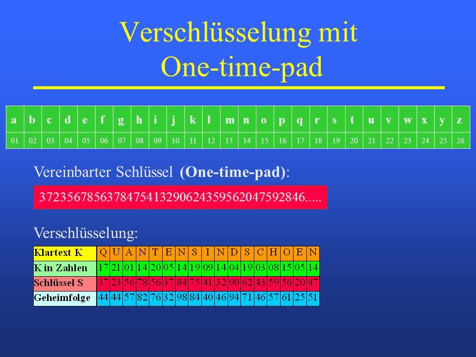 Verschlüsselung mit One-time-pad