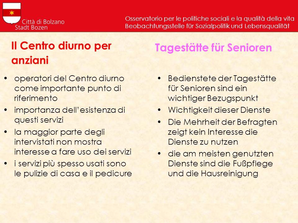 Il Centro diurno per anziani
