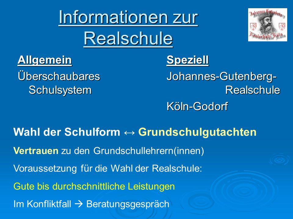 Informationen zur Realschule