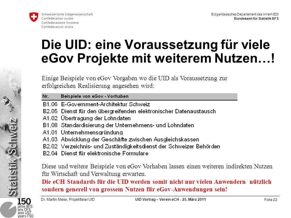 Die UID: eine Voraussetzung für viele eGov Projekte mit weiterem Nutzen…!