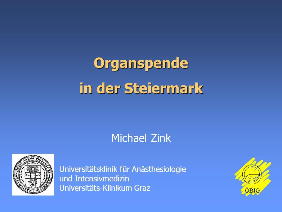 Organspende in der Steiermark