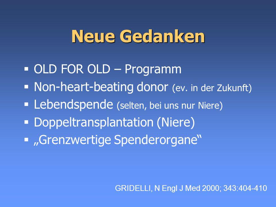 Neue Gedanken OLD FOR OLD – Programm