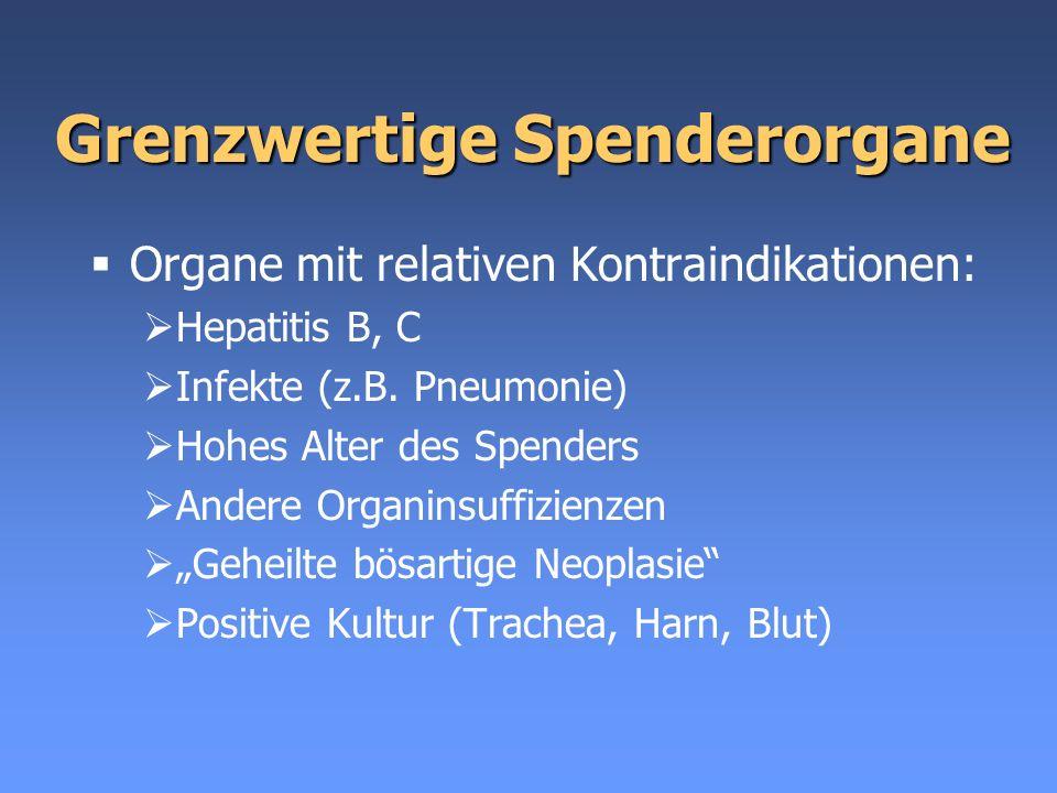 Grenzwertige Spenderorgane