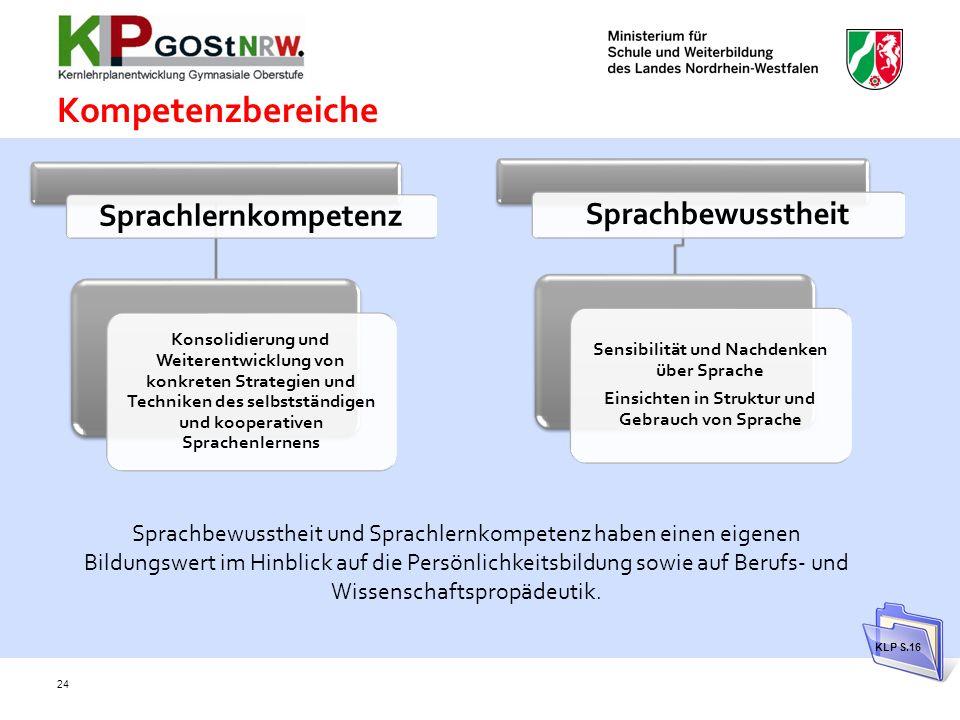 Kompetenzbereiche Sprachlernkompetenz Sprachbewusstheit