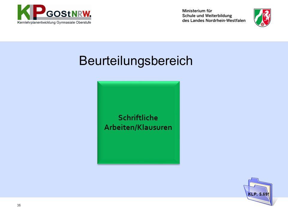 Schriftliche Arbeiten/Klausuren