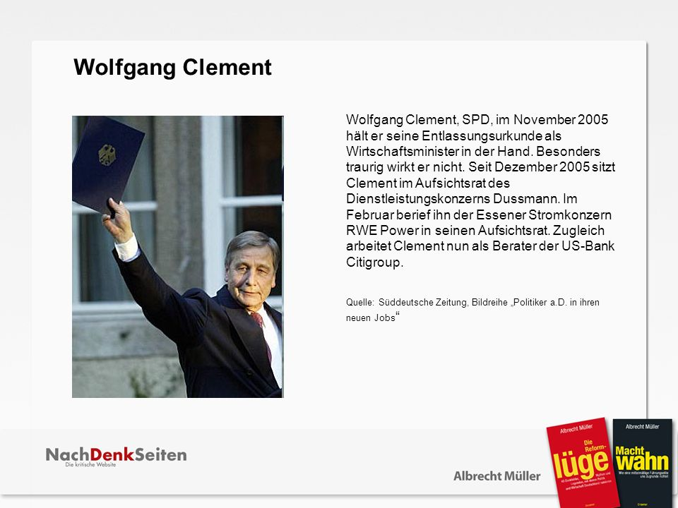 Wolfgang Clement.