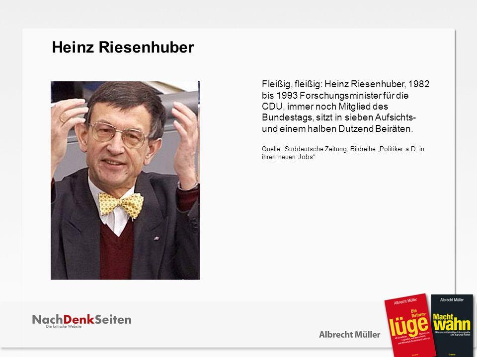 Heinz Riesenhuber.