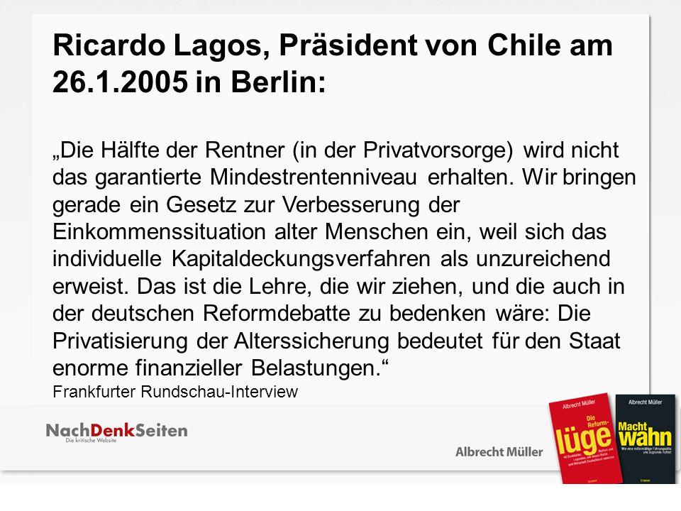 Ricardo Lagos, Präsident von Chile am 26.1.2005 in Berlin:
