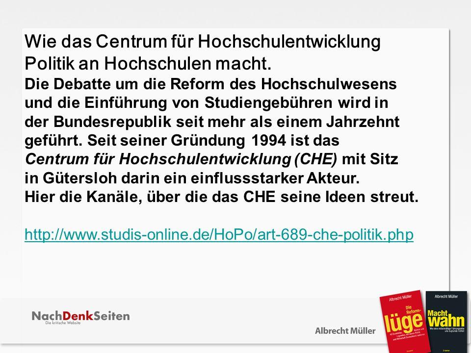 Wie das Centrum für Hochschulentwicklung Politik an Hochschulen macht.