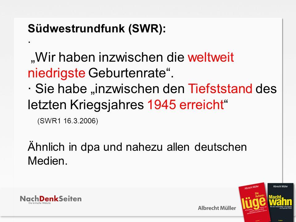 Südwestrundfunk (SWR):