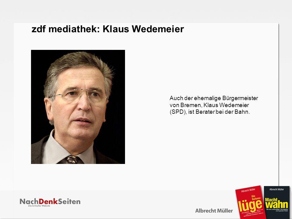 zdf mediathek: Klaus Wedemeier