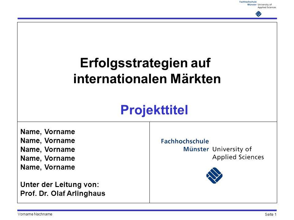 Erfolgsstrategien auf internationalen Märkten