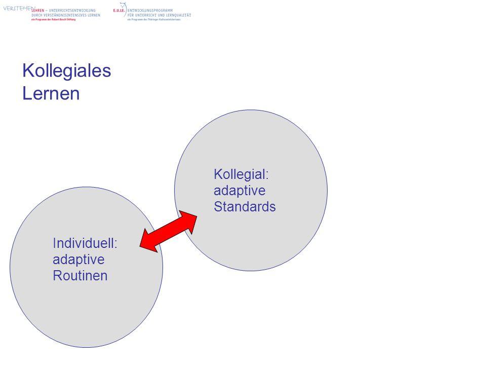 Kollegiales Lernen Kollegial: adaptive Standards