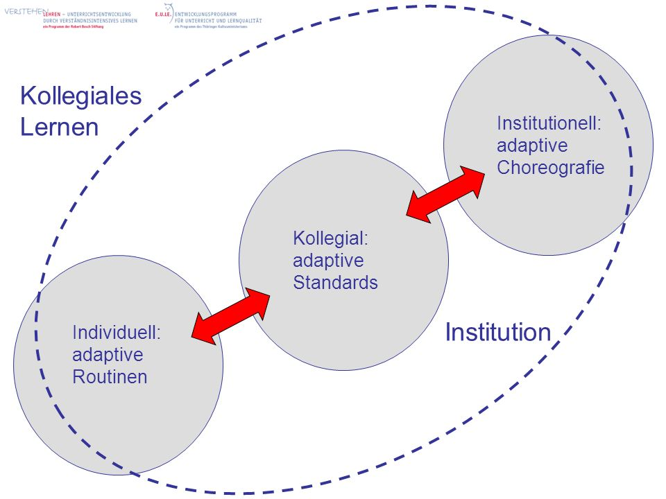 Kollegiales Lernen Institution Institutionell: adaptive Choreografie
