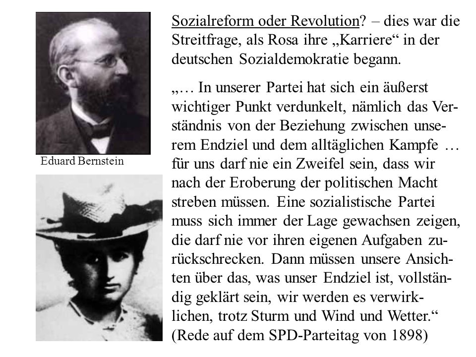 Sozialreform oder Revolution