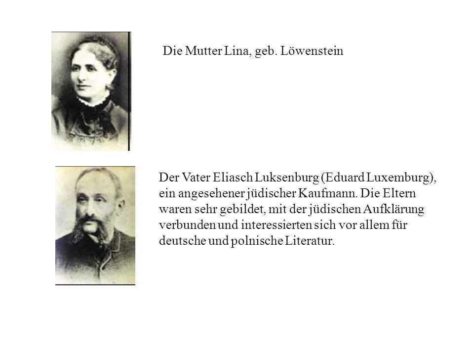 Die Mutter Lina, geb. Löwenstein