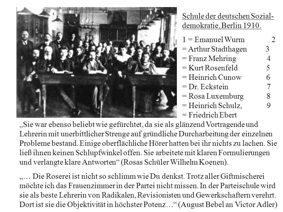 Schule der deutschen Sozial-demokratie, Berlin 1910.