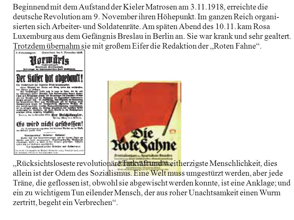 Beginnend mit dem Aufstand der Kieler Matrosen am 3. 11
